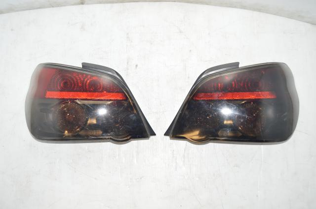 Subaru WRX STI Version 9 JDM Black Smoked Tail Lights