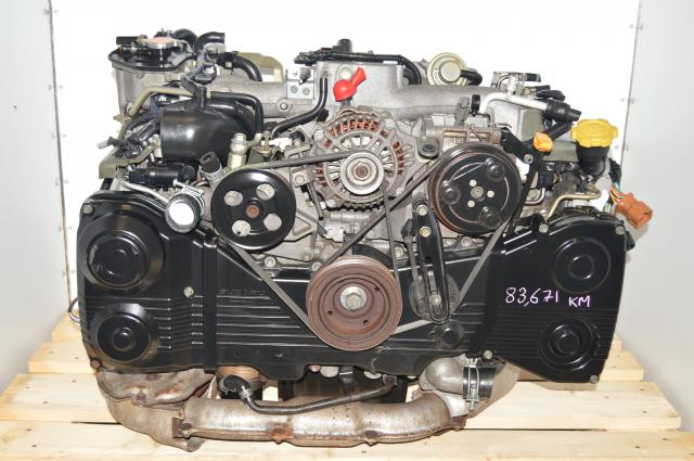 Used JDM EJ205 AVCS Engine TD04 Turbocharged WRX 2.0L DOHC Replacement Engine Motor Swap