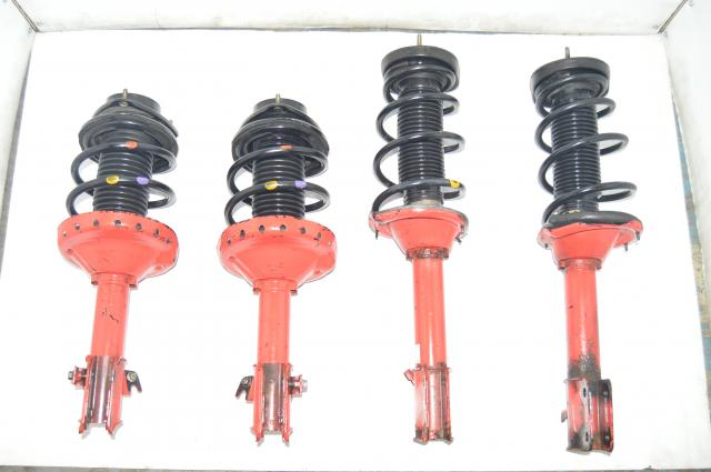 Subaru WRX STI 5x100 Red Suspension for 2002-2007 GD
