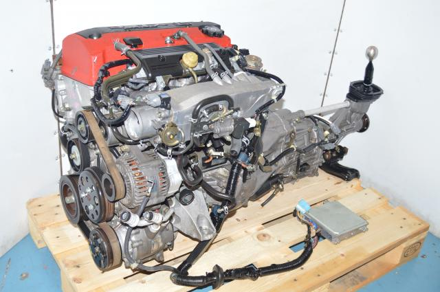 JDM Honda F20C AP1 2.0L Engine DOHC VTEC Swap for Sale with 6-Speed Transmission Package For Sale