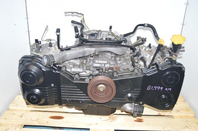 JDM Subaru WRX EJ205 DOHC 2.0L Long Block 2002-2005 Replacement Motor For Sale Avcs capable
