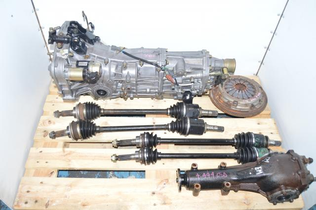 JDM Push-Type 2006-2007 5-Speed Transmission Swap with 4 Corner Axles, 4.444 LSD Differential & Clutch Assembly