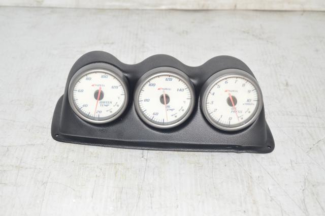 JDM Apexi Gauges and Pod: Oil Temp, Water Temp, Oil Pressure