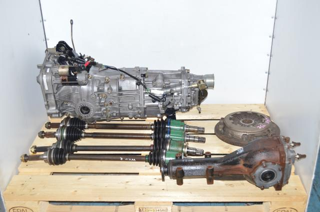 JDM Subaru WRX 2002-2005 5-Speed Transmission, 4.444 LSD Rear Differential, 4 Corner Axles, Flywheel & Pressure Plate