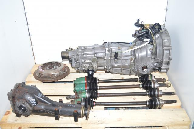 Used Subaru TY754VN2AA Replacment 5-Speed Manual Transmission, JDM TY754VBBAA WRX 2002-2005 5MT with 4.444 LSD Rear Diff