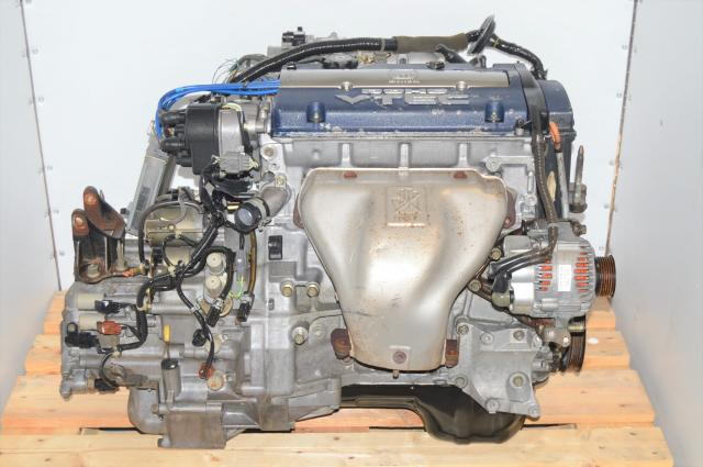 Used JDM Honda Accord SIR DOHC H23A 2.3L VTEC OBD2 Blue-Top Engine & Transmission Swap For Sale