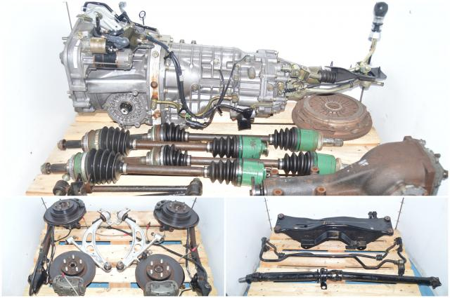 JDM 2002-2007 TY856WB1CA Front LSD Version 7 Transmission Swap with 4 Corner Axles, 5x100 Hubs, Flywheel, Pressure Plate & Rear R180 Differential For Sale