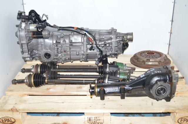 JDM Subaru WRX Push Type 2006-2007 5 Speed Manual Transmission Package with 4.444 Rear LSD Differential