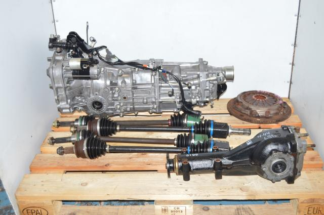 JDM Subaru Impreza WRX  2006-2007 5 Speed Manual Push Type Transmission Package with 4.444 Rear LSD Differential