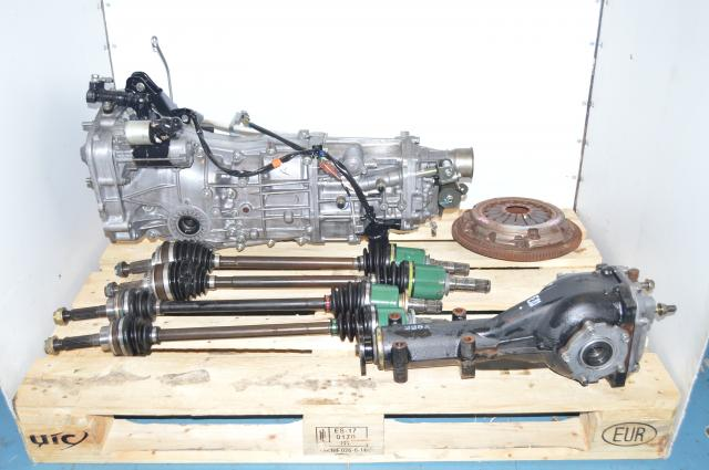 JDM SUbaru WRX 2006-2007 Push-Type GD 5-Speed Transmission with 4 Corner Axles & Rear 4.444 Rear LSD
