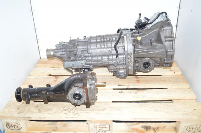 JDM Subaru Legacy 6-Speed TY856WLFAA Legacy B4 S402 Transmission with 3.9 R180 STi Rear Differential for Sale