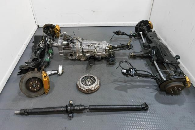 JDM Forester STi TY856WL7CC 2002-2007 FSTi 6-Speed Manual Transmission swap with Subframes, Control Arms, Clutch Assembly & Brembo Calipers for Sale