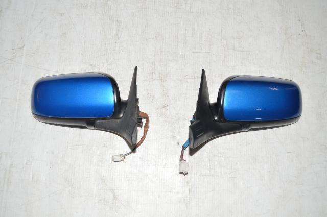 Subaru Impreza WRX STI Motorized Outer Wing Mirrors in World Rally Blue