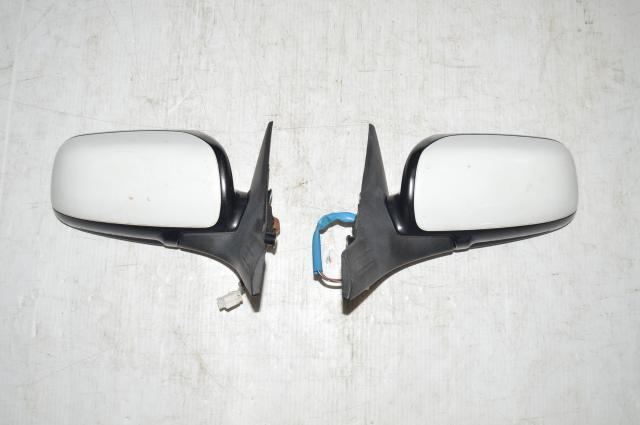Subaru WRX STI Wing Mirrors in White for 2002-2007 Impreza WRX & STI