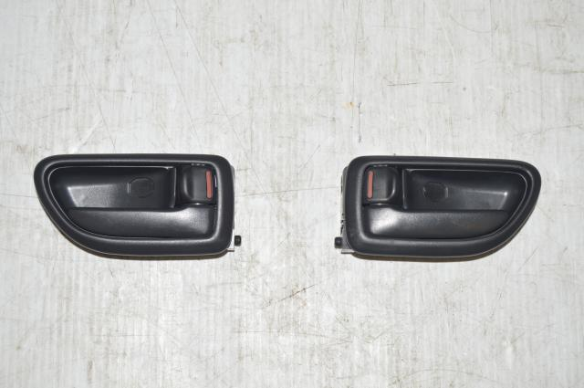 Pair of Door Handles and Corresponding Trim for 02-07 Subaru Impreza WRX & STI