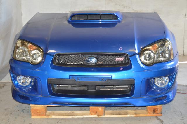 Version 8 Blobeye WRX STI World Rally Blue Nose Cut w/Front Lip, Fog Lights and HID Headlights