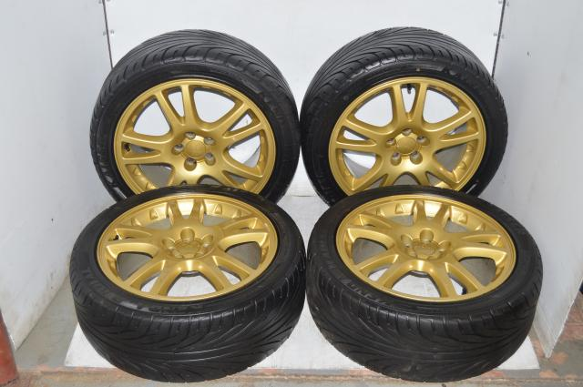 JDM Subaru Version 7 5x100 Offset ET53 Kenda Tires