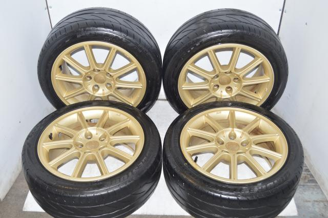 Subaru Enkei Version 9 STI Limited Wheels 5x114.3 17x8 ET53 Bridgestone