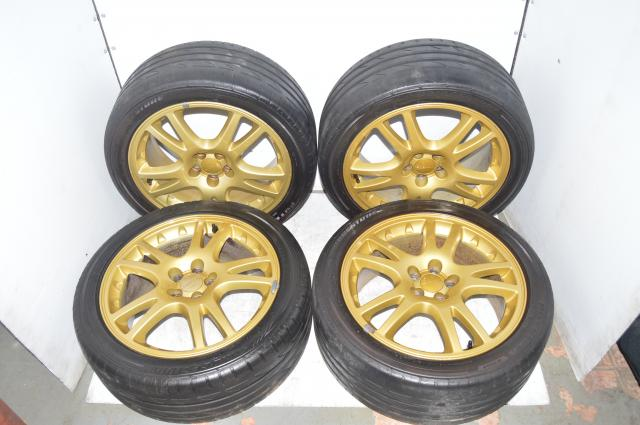 Subaru Version 7 5x100 Offset ET53 225/45/17 Bridgestone Tires