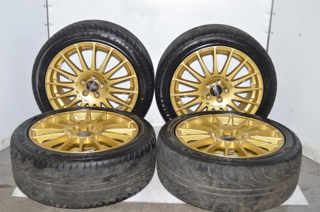 OZ Racing GT-Evo Gold Wheels 17x7 5x100 ET48 w/Kenda Kaiser Tires