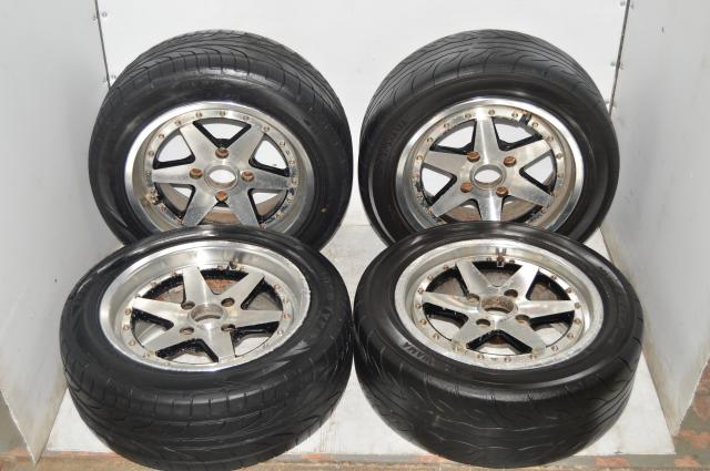 SSR XR4S 2 Piece Wheel 4x114.3 ET25 15x7 with Yokohama Tires