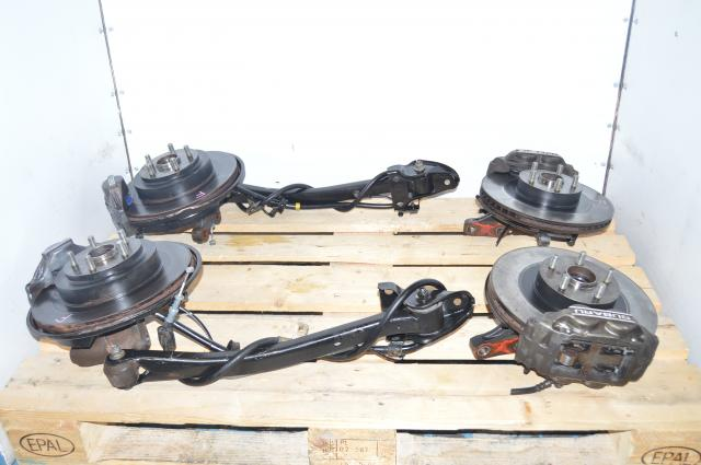 Used Subaru Impreza WRX 5x100 Bolt Pattern Grey 4 Pot & 2 Pot Brake Kit for Sale
