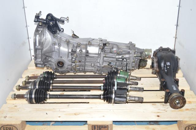 JDM Subaru Legacy / WRX 5-Speed Manual 2008-2011 Puish Type Manual Transmission Swap for Sale with 4.11 LSD Rear Diff