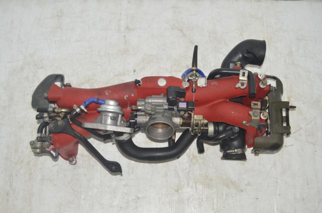 JDM Version 8 Long Runner Red STI Intake Manifold w/Injectors and Fuel Rails