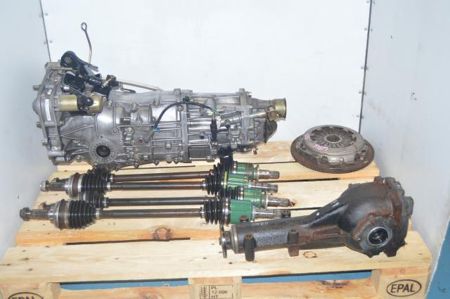 Used Subaru TY755VB4BA 5-Speed Transmission Replacement Package with 4.444 Rear Differential