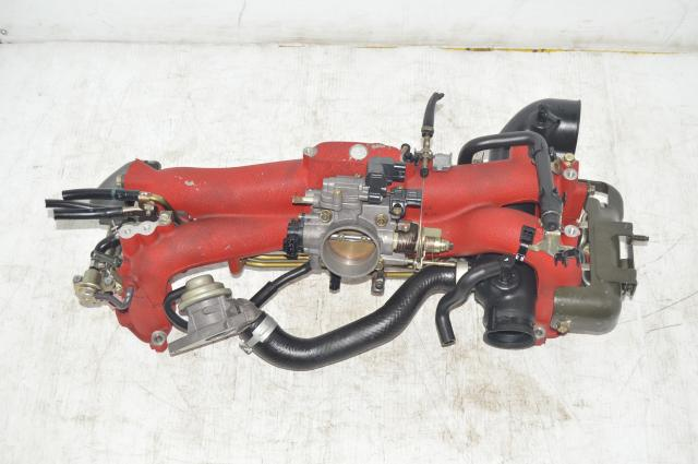 JDM Long Runner Red EJ207 WRX STI Intake Manifold from a Version 8 2004-2007