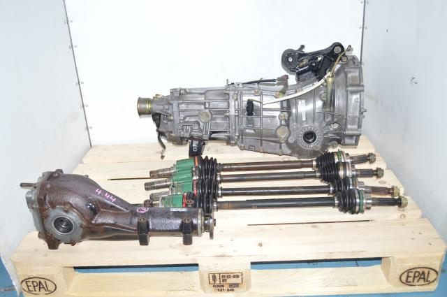 JDM Subaru Impreza WRX GDB GDA 2002-2005 2.0L Replacement 5-Speed Manual Transmission, Axles & Rear 4.444 Rear Diff.