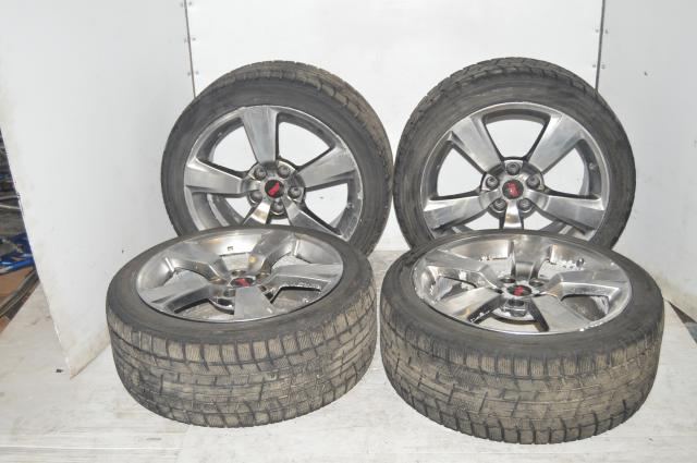 Used version 10 Subaru wrx sti 5x114 silver mags with Yokohama tires