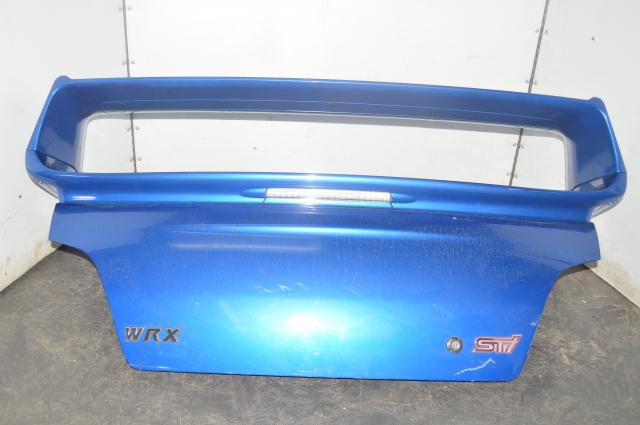 STI Spoiler and Trunk Combo in WRB for 2002-2007 Impreza WRX & STI Sedan Only