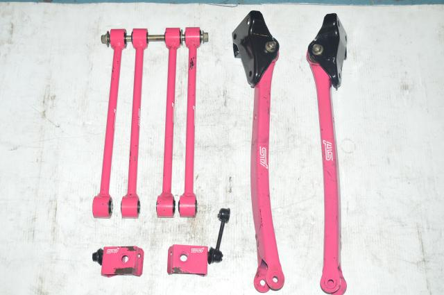Version 8 STI Pink Lateral Links, Rear Trailing Arms and Endlinks,