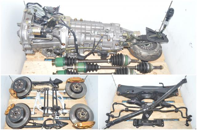 JDM STi Subaru Type-RA Spec-C TY856WB2GA 6-Speed Transmission Swap for Sale with, 5x100 Brembo Calipers, Aluminum Control Arms, Axles & Rear R180 3.9 AP Suretrac Differential