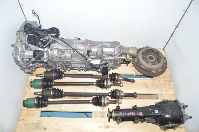 5 Speed Manual Subaru WRX 2002-2005 JDM Transmission for Sale with 4.444 LSD Rear Differential