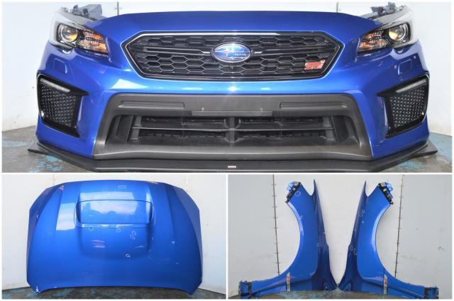 2018+ VA STI Nose Cut Front Clip w/STI Limited Lip, Hood, Fenders, HID Headlights, LED Fog Inserts and Rad Support