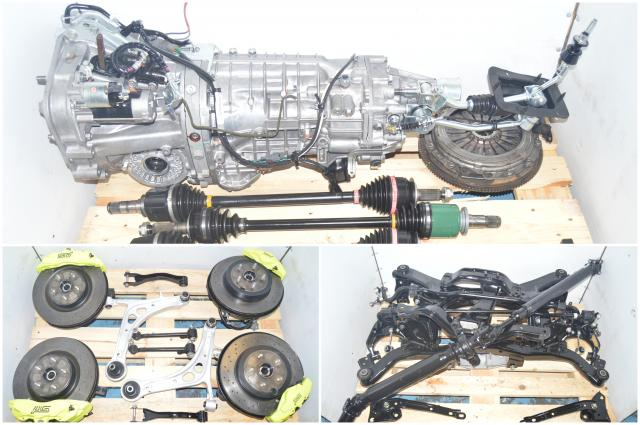 JDM Subaru WRX STi 2015-2018 VA-B TY856UB9AA 6-Speed Transmission with Aftermarket Discs, Brembo 6 Pot / 2 Pot Calipers, 4 Corner Axles, R180 Rear Diff & Subframe for Sale