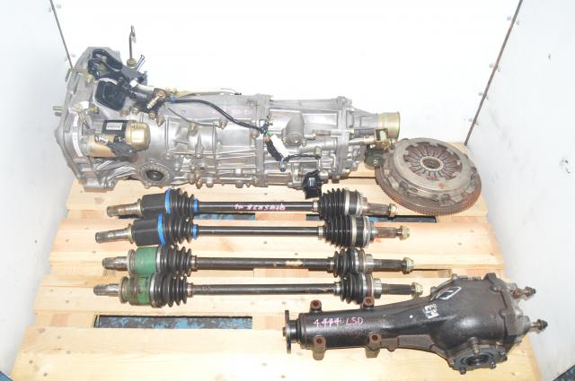 WRX 2002-2005 JDM 5 Speed Replacement Transmission with Rear 4.444 LSD Differential for Sale