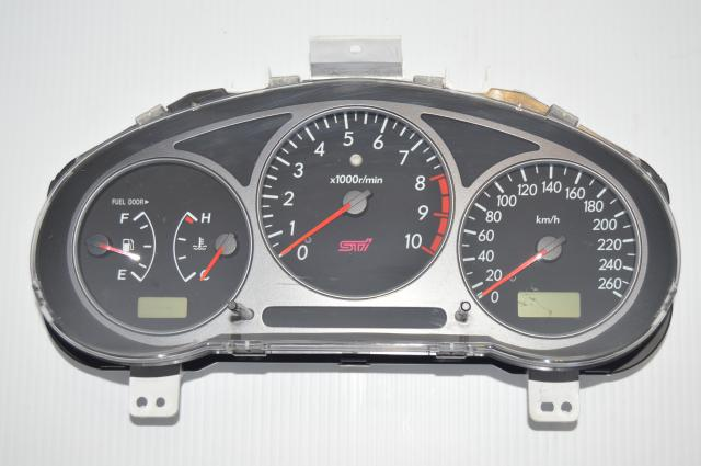 Rare JDM Subaru Version 7 STI 260km/h Cluster 10k RPM Redline Cluster for Sale