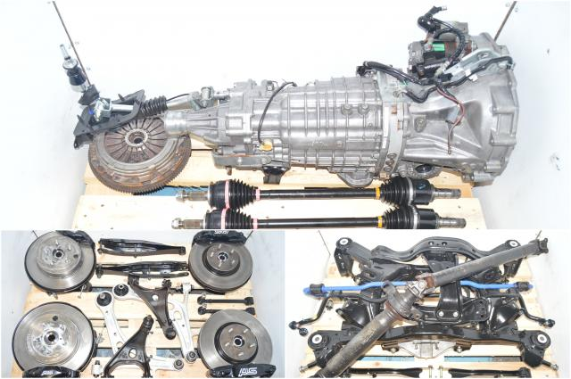 Used Subaru TY856UB1KA JDM 6-Speed Manuel GRB 2008-2014 STi Transmission with 5x114 Hubs, Brembos, Axles & Rear Differential for Sale