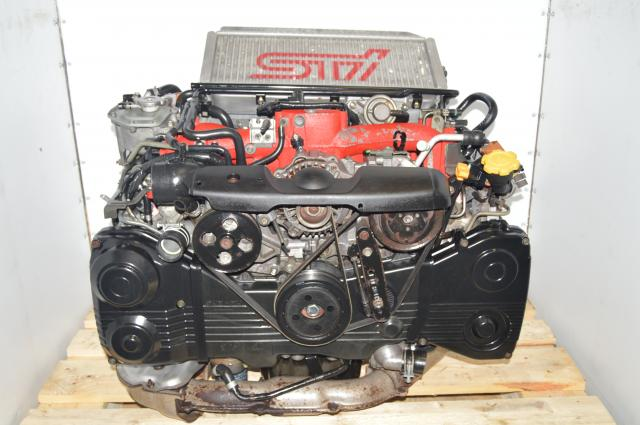 JDM EJ207 Single-Scroll AVCS 2.0L 2002-2007 STi DOHC Engine Swap with Turbocharger, Intercooler & Downpipe
