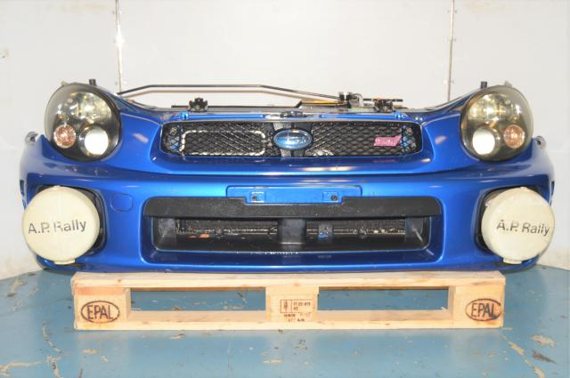 JDM Version 7 Front Bumper, Radiator Support, Headlights & AP Rally Foglights & Covers for Sale WRB Bugeye GDB GDA