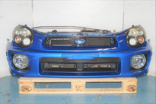 JDM WRX 2002-2003 Version 7 Front Bumper Cover, Rad Support, Headlights & Foglights for Sale