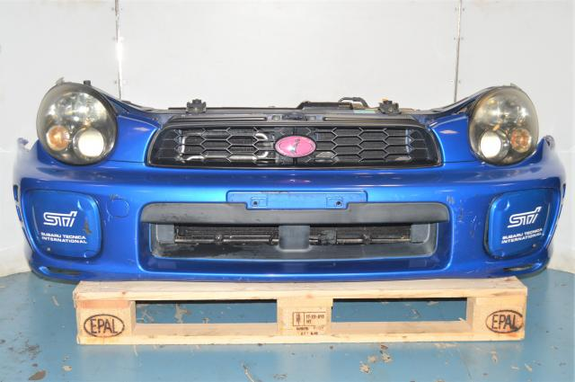 Subaru JDM WRX 02-03 GD Sedan WRB Front Bumper with Radiator, Rad Support, STi Foglight Covers, Grille and Headlights for Sale