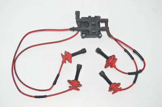 Used Subaru Impreza EJ20 EJ25 JDM Ignition Coil, Plugs and Red Wires