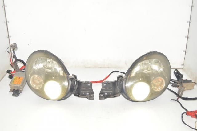 Version 7 Bugeye WRX 2002-2003 Left & Right Headlight Assemblies with Ballasts