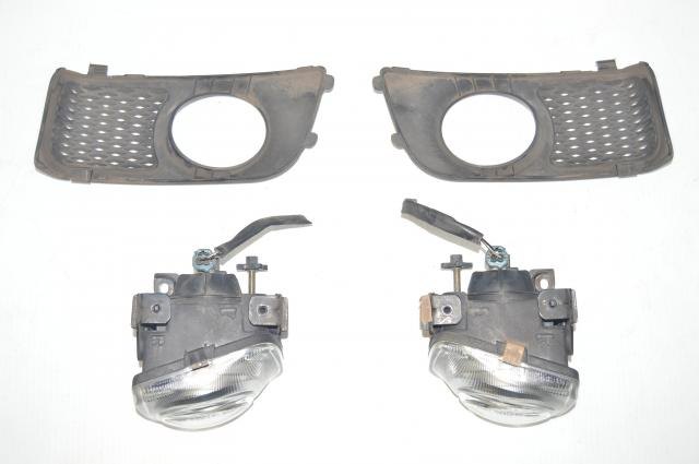 JDM Subaru Legacy BH5 BE5 Front Left & Right Foglights with Covers - Sedan (Zenki Style)