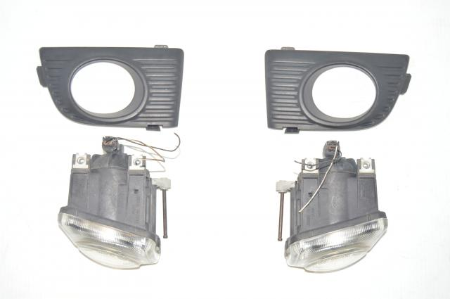 Used Legacy BH5 BE5 Front Left & Right JDM Foglights with Covers - Wagon (Kouki Style)