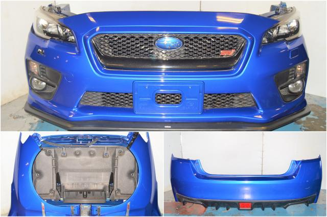 JDM STi VA 2015-2018 Radiator Support, Front Bumper, Headlights, Foglights, Grille, JDM STi Lip, Fenders, Hood & Rear Bumper for Sale